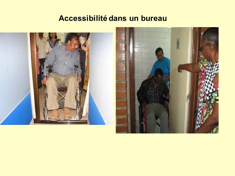 Accessibilité dans un bureau