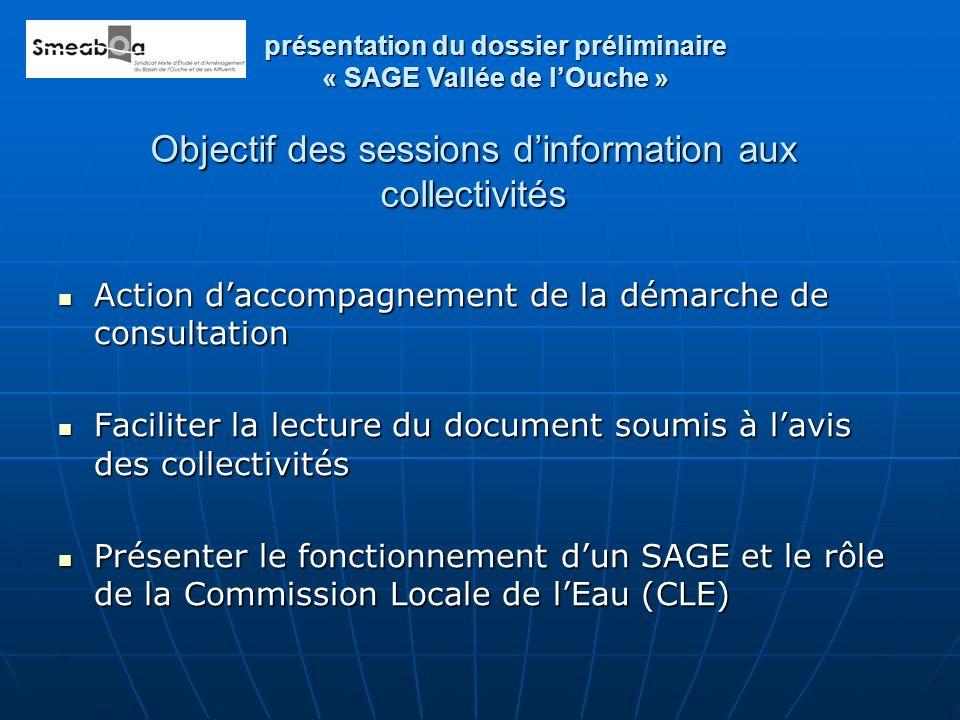 Objectif des sessions dinformation aux collectivités Action daccompagnement de la démarche de consultation Action daccompagnement de la démarche de co