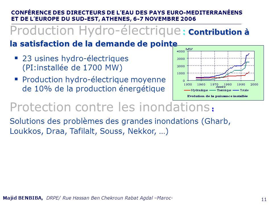 CONFÉRENCE DES DIRECTEURS DE LEAU DES PAYS EURO-MEDITERRANÉENS ET DE LEUROPE DU SUD-EST, ATHENES, 6-7 NOVEMBRE 2006,, de 11 23 usines hydro-électrique