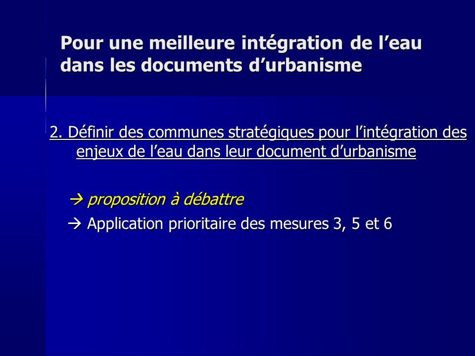 Pour une meilleure intégration de leau dans les documents durbanisme 2.