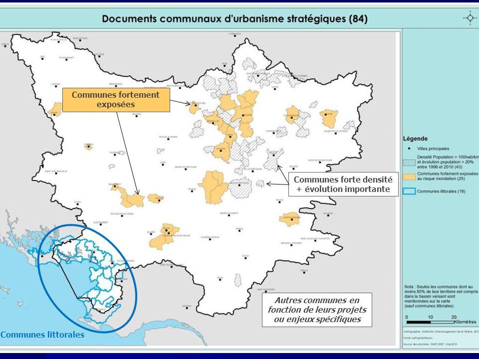 Communes littorales Communes forte densité + évolution importante Communes fortement exposées Autres communes en fonction de leurs projets ou enjeux spécifiques
