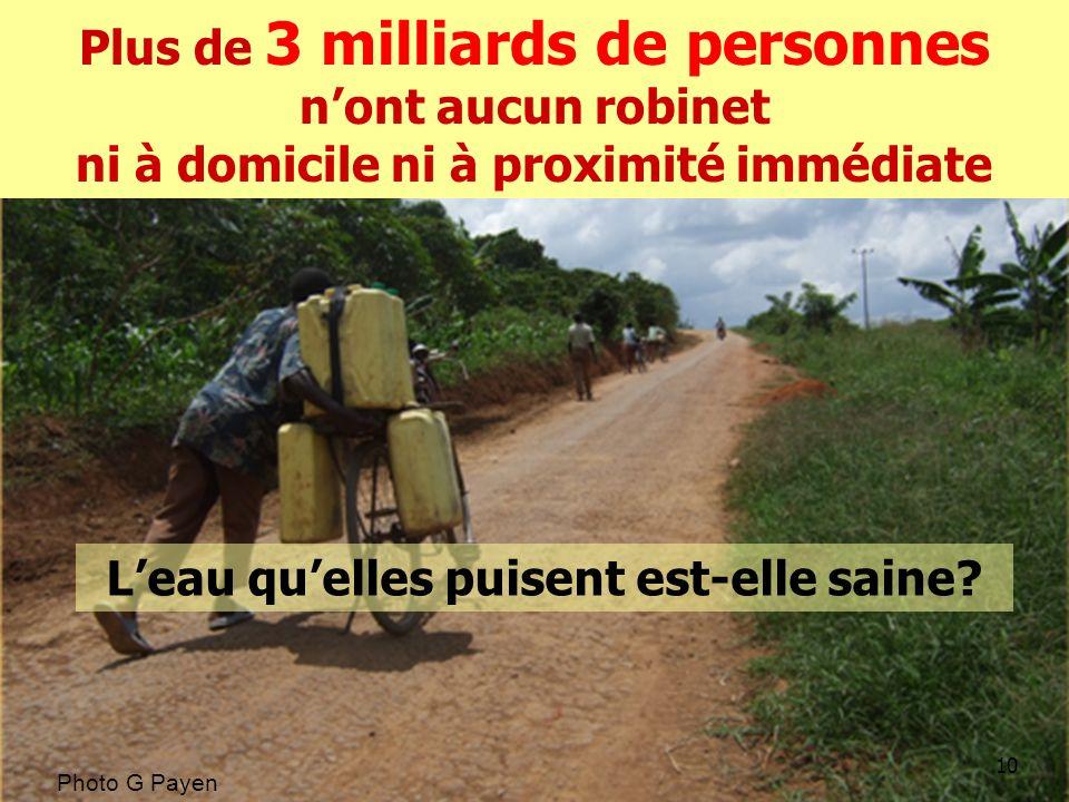 10 Photo G Payen Plus de 3 milliards de personnes nont aucun robinet ni à domicile ni à proximité immédiate Leau quelles puisent est-elle saine?