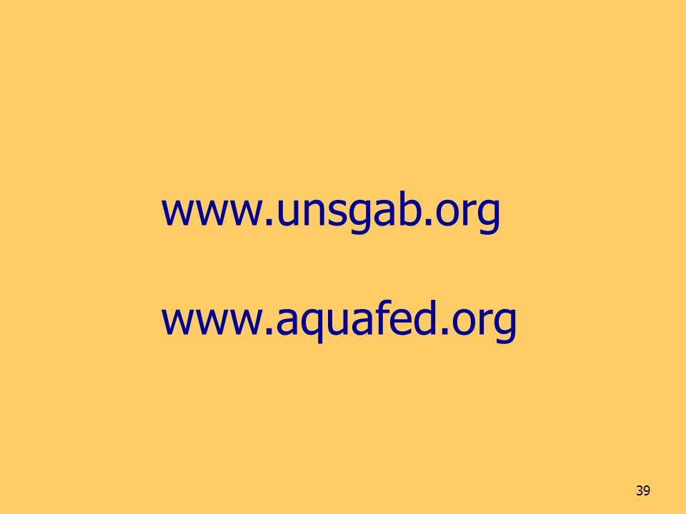 39 www.unsgab.org www.aquafed.org