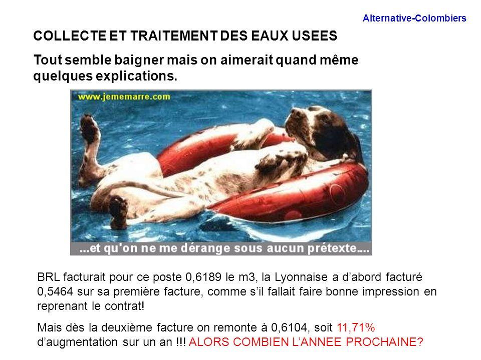 LA PART DES ORGANISMES PUBLICS Il y a des surprises : la lutte contre la pollution coûtait 0,29 le m3 avec BRL Avec la Lyonnaise elle ne coûte plus que 0,19 le m3.