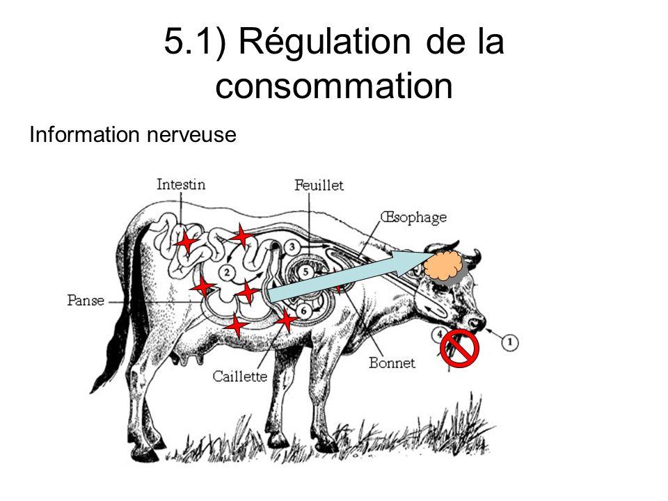 5.1) Régulation de la consommation Informations calorifiques