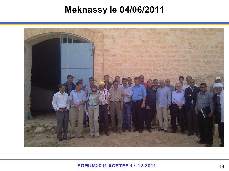 16 FORUM2011 ACETEF 17-12-2011 Meknassy le 04/06/2011
