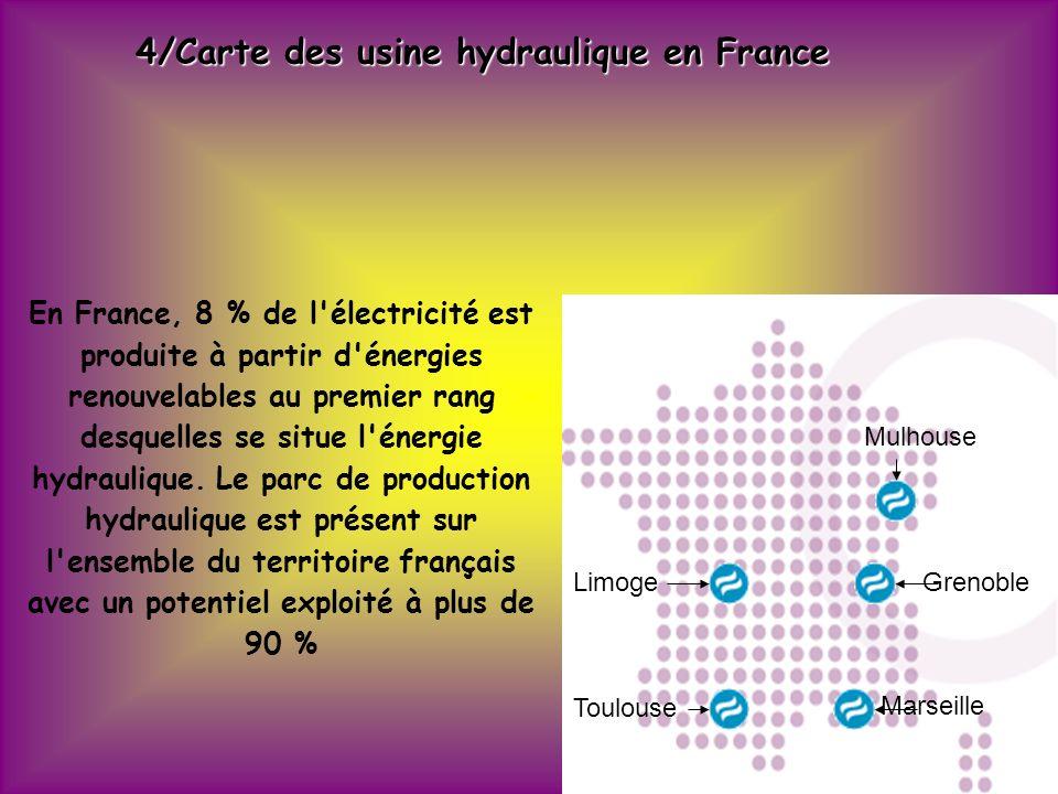 5/Usine Marémotrice de la Rance L usine marémotrice de la Rance est une centrale électrique tirant son énergie de la force de la marée.
