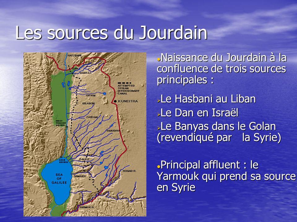 Les sources du Jourdain Naissance du Jourdain à la confluence de trois sources principales : Naissance du Jourdain à la confluence de trois sources pr