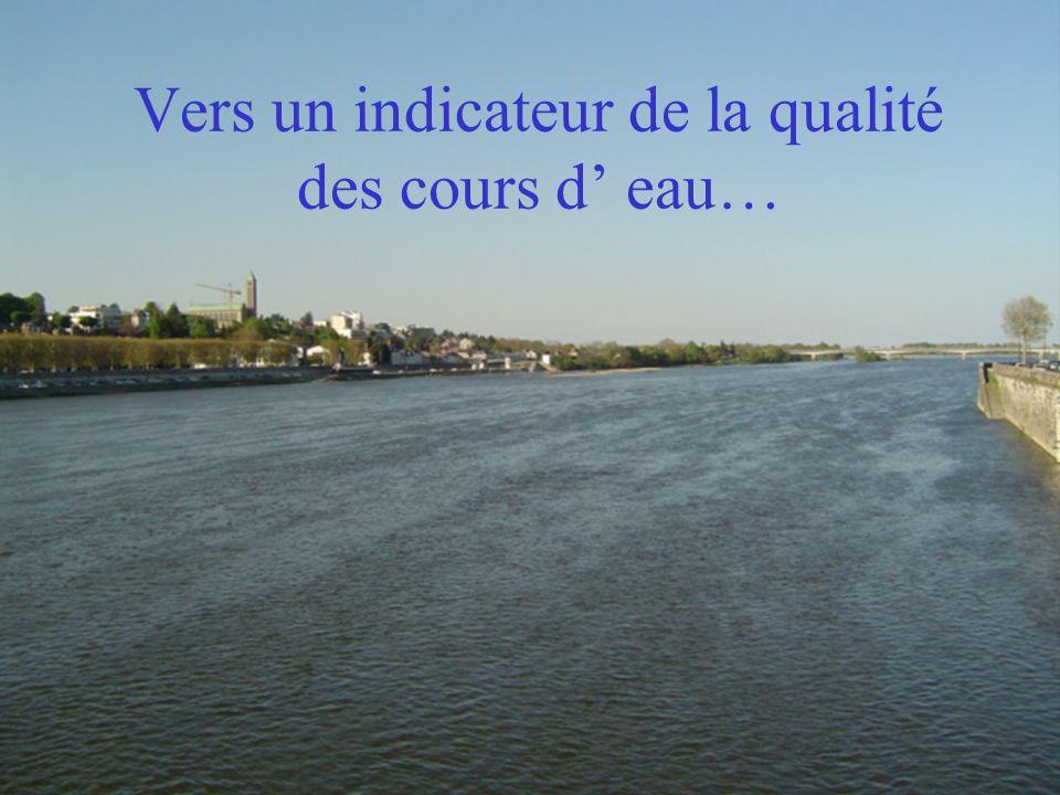 Vers un indicateur de la qualité des cours d eau…