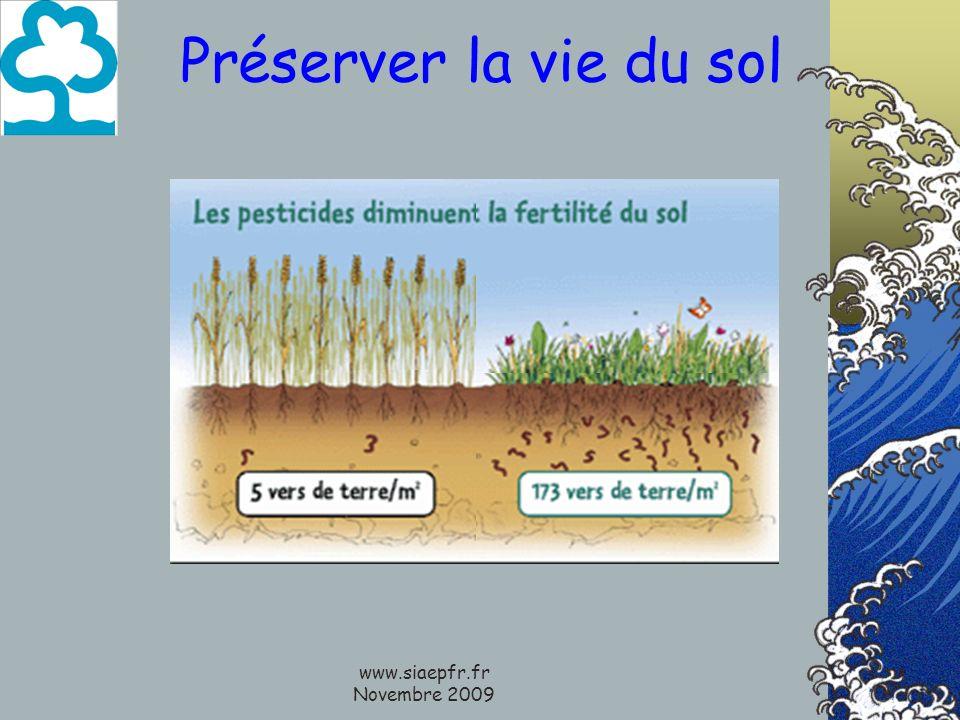 www.siaepfr.fr Novembre 2009 Préserver la vie du sol