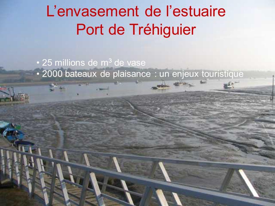 Lenvasement de lestuaire Port de Tréhiguier 25 millions de m 3 de vase 2000 bateaux de plaisance : un enjeux touristique