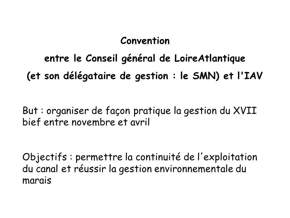 protocole gestio protocole gestio Convention entre le Conseil général de LoireAtlantique (et son délégataire de gestion : le SMN) et l'IAV But : organ