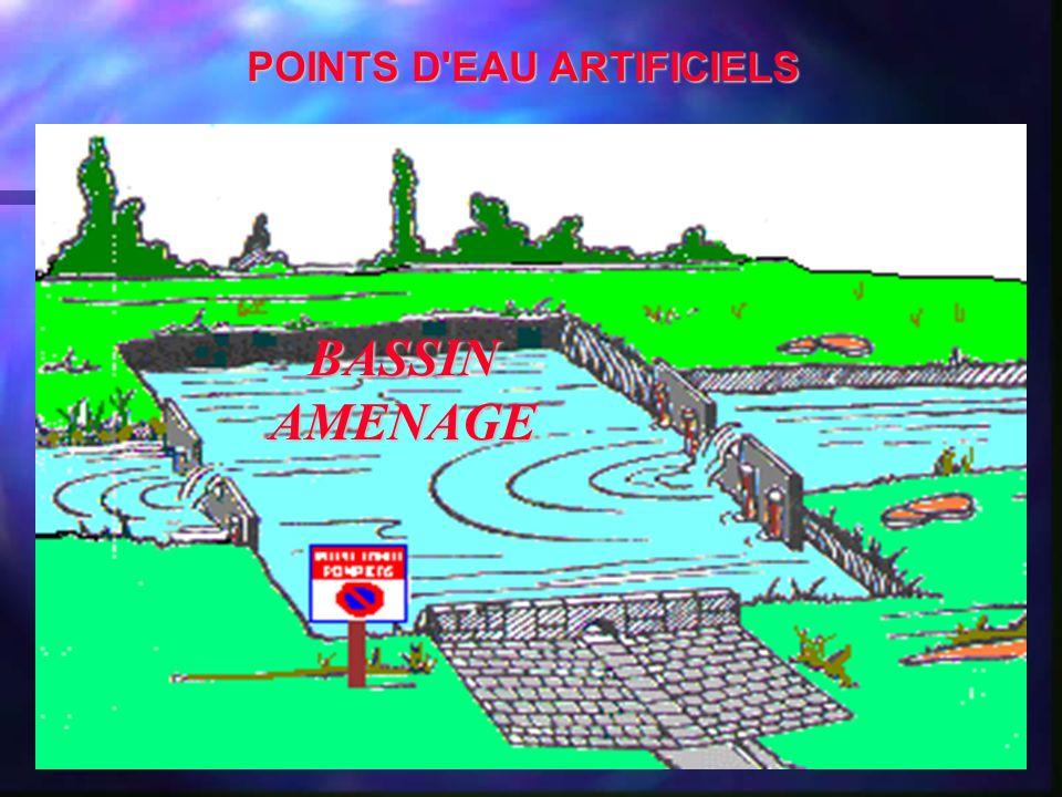 BASSIN AMENAGE POINTS D'EAU ARTIFICIELS