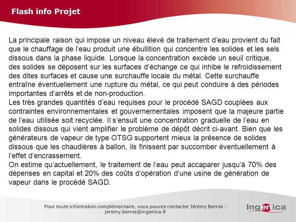 Flash info Projet Pour toute information complémentaire, vous pouvez contacter Jérémy Berros : jeremy.berros@ingenica.fr La principale raison qui impo