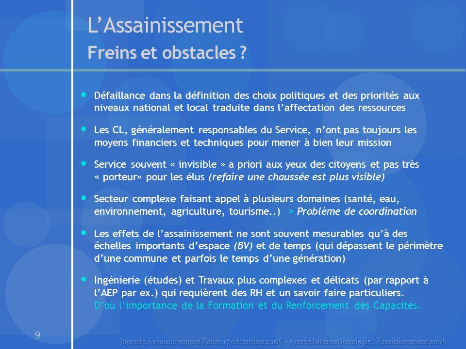 9 LAssainissement Freins et obstacles .
