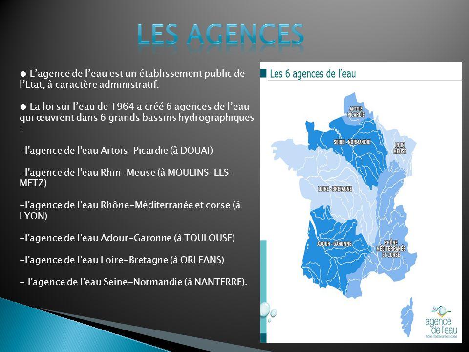 Lagence de leau est un établissement public de lEtat, à caractère administratif.