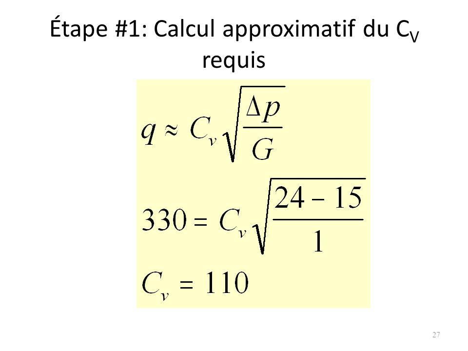 Étape #1: Calcul approximatif du C V requis 27
