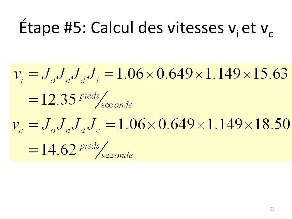 Étape #5: Calcul des vitesses v i et v c 33