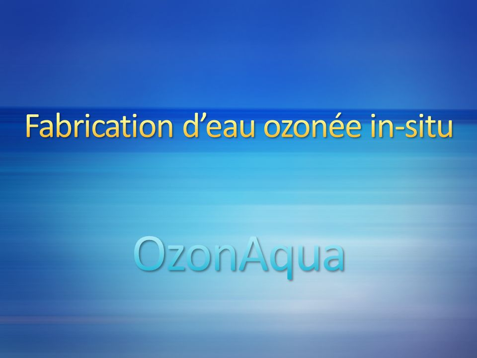 Efficacité des désinfectants – valeur des CT (en mg/l/min) pour linactivation de 99.9% des kystes de Giardia Lamblia Désinfectant pH5°C10°C20°C25°C Chlore libre à 2 mg/l 6116874429 71651246241 935326513288 Ozone 6-9 1,91,430,720,48 Dioxyde de chlore 6-9 26231511 Chloramine (préformée) 6-9 220018501100750 Les valeurs obtenues pour lozone sont très inférieures à celles des autres désinfectants ce qui démontre son efficacité grandeurs caractéristiques de mise en oeuvre des désinfectants ConditionsChloreDioxyde de chloreOzone Bactéricides 0.1 à 0.2 mg/l pendant 10 à 15 minutes 0.1 à 0.2 mg/l pendant 5 à 10 minutes 0.1 à 0.2 mg/l pendant 1 à 2 minutes Virucides 0.3 à 0.5 mg/l pendant 30 à 45 minutes 0.3 à 0.5 mg/l pendant 30 minutes 0.3 à 0.5 mg/l pendant 4 minutes