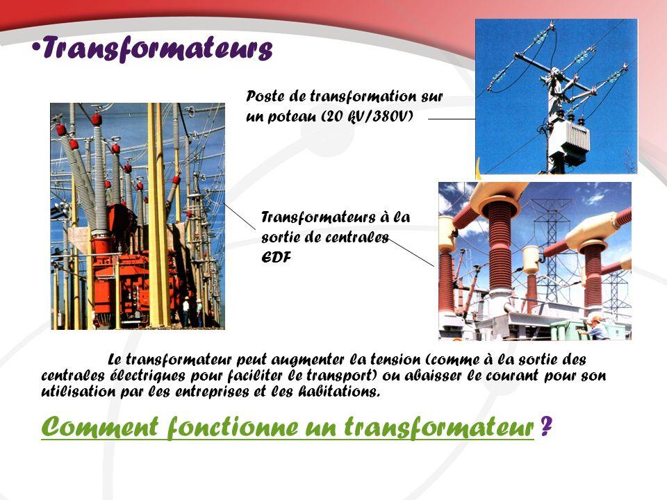 Transformateurs Comment fonctionne un transformateurComment fonctionne un transformateur ? Poste de transformation sur un poteau (20 kV/380V) Transfor