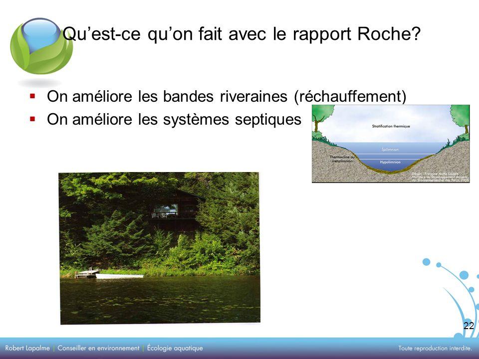 22 Quest-ce quon fait avec le rapport Roche.