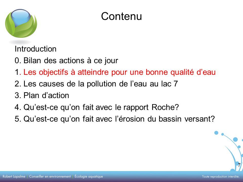 7 Contenu Introduction 0. Bilan des actions à ce jour 1.