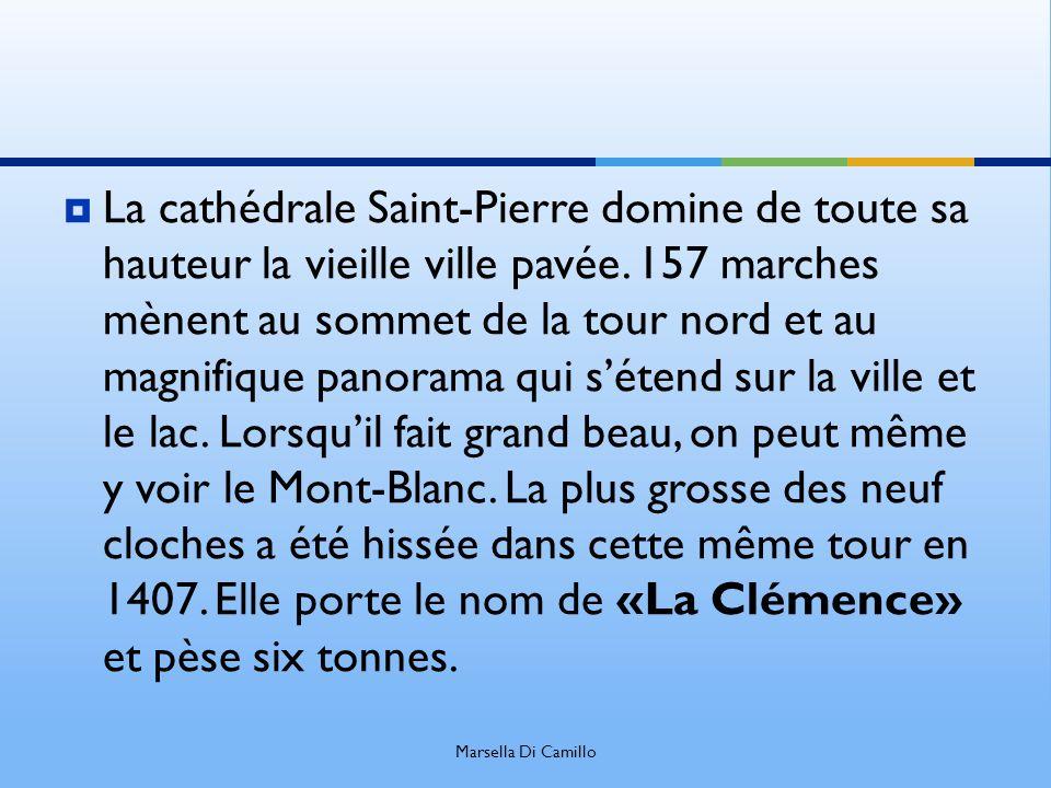 La cathédrale Saint-Pierre domine de toute sa hauteur la vieille ville pavée. 157 marches mènent au sommet de la tour nord et au magnifique panorama q