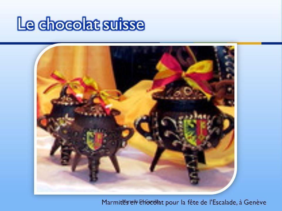 Marmites en chocolat pour la fête de l'Escalade, à Genève Marsella Di Camillo