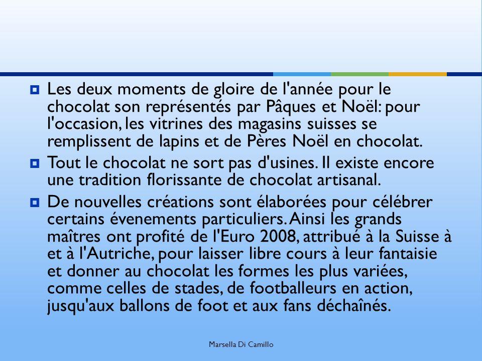 Les deux moments de gloire de l'année pour le chocolat son représentés par Pâques et Noël: pour l'occasion, les vitrines des magasins suisses se rempl