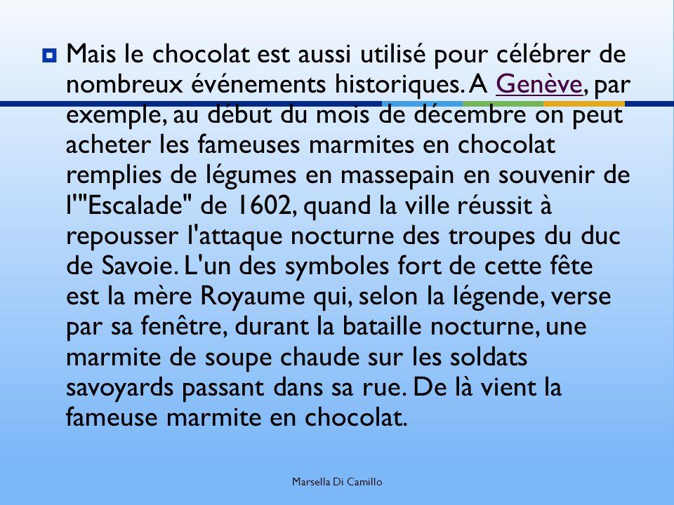 Mais le chocolat est aussi utilisé pour célébrer de nombreux événements historiques. A Genève, par exemple, au début du mois de décembre on peut achet