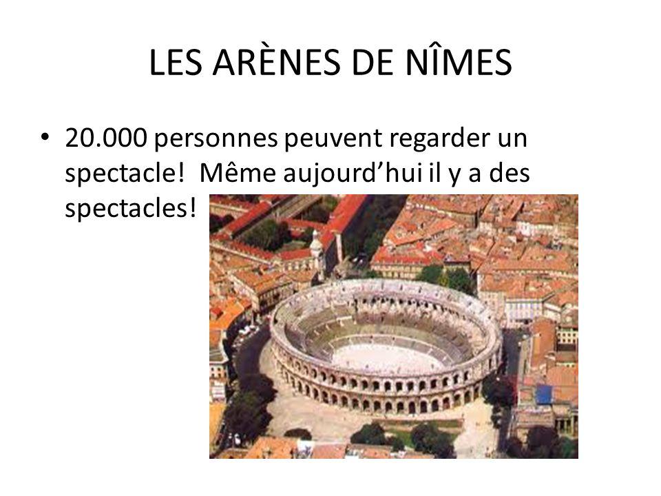 LES ARENES DE NIMES CONSTRUITES ENTRE 90 ET 120 de notre ère Combats danimaux sauvages Combats de gladiateurs Exécutions Grands spectacles pour amuser tout le monde
