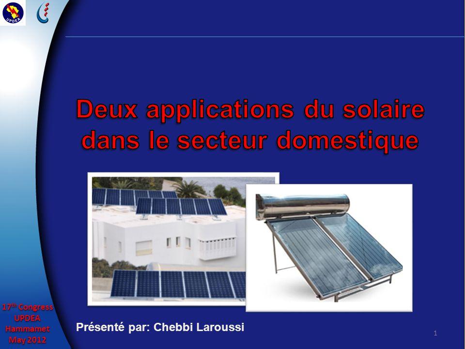 17 th Congress UPDEAHammamet May 2012 17 th Congress UPDEAHammamet May 2012 2 La politique nationale de maîtrise de lénergie tracée par le ministre de tutelle et lAgence Nationale pour la Maîtrise de lEnergie est concrétisée en grande partie par la Société Tunisienne dElectricité et de Gaz (STEG).