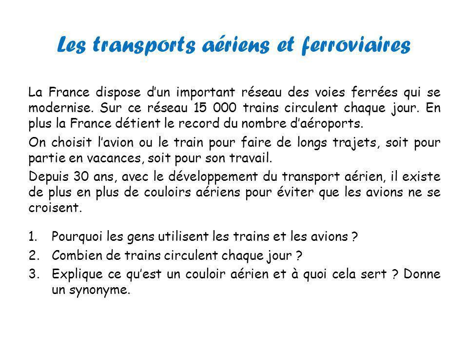 Analyse de documents Pourcentage de voyageurs utilisant les aéroports de Paris 1.Sur 100 personnes combien utilisent les 2 aéroports de Paris .