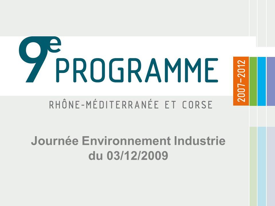 Journée Environnement Industrie du 03/12/2009