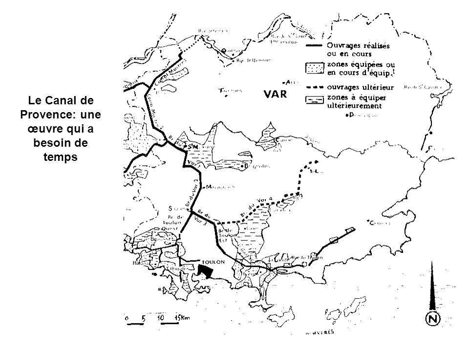 Le Canal de Provence: une œuvre qui a besoin de temps