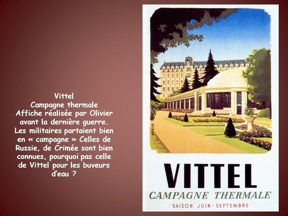 Eau de Bussang Affiche de Bellanger 1937 Elle rappelle que la France possédait alors un immense empire colonial