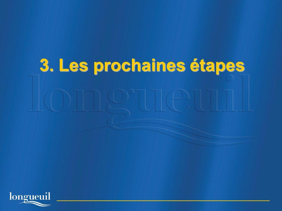 3. Les prochaines étapes