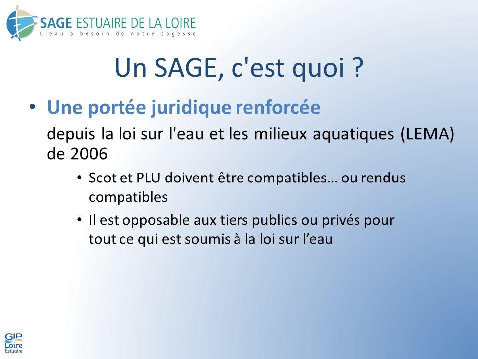 Les objectifs du SAGE 5 grands objectifs – La connaissance, la cohérence et lorganisation – La qualité des milieux – La qualité des eaux – La prévention des inondations – La gestion de la ressource