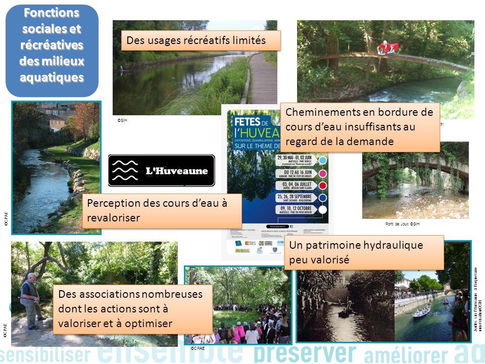 Fonctions sociales et récréatives des milieux aquatiques Pont de Joux ©SIH Moulin St Claude Auriol ©SIH - www.rives-et-cultures.fr/ Joutes sur lHuveau