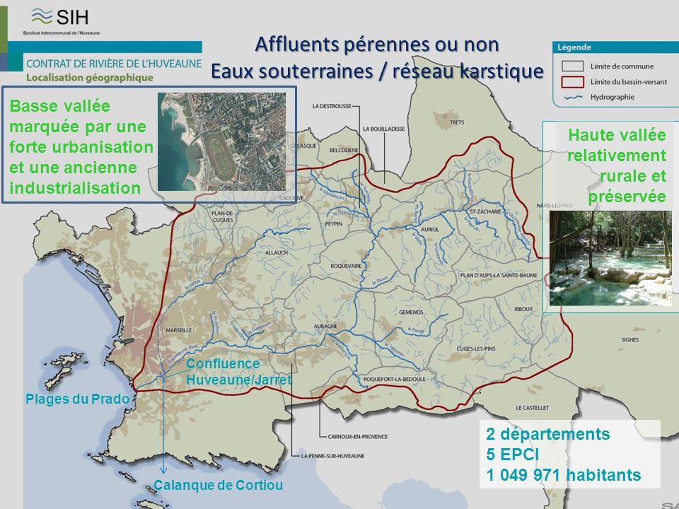 2 départements 5 EPCI 1 049 971 habitants Plages du Prado Calanque de Cortiou Confluence Huveaune/Jarret Haute vallée relativement rurale et préservée