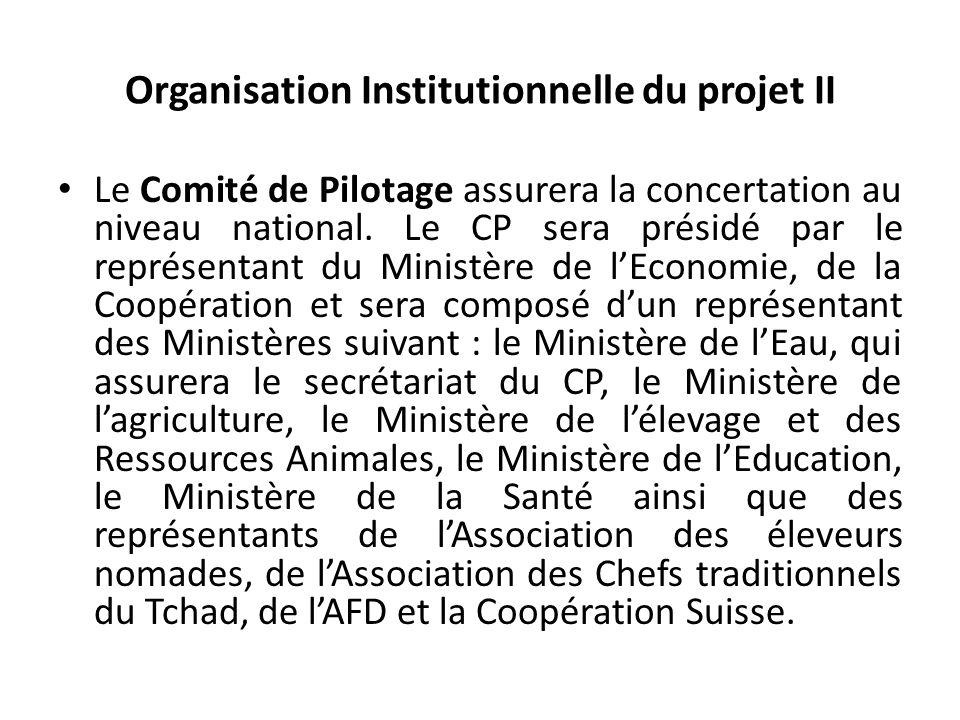 Organisation Institutionnelle du projet II Le Comité de Pilotage assurera la concertation au niveau national.