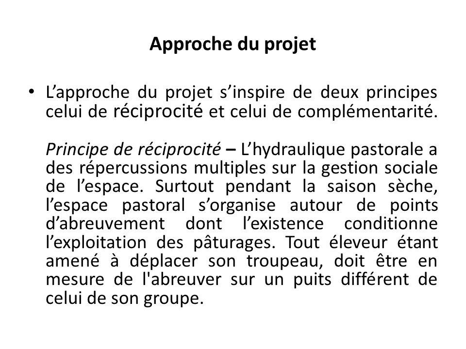 Approche du projet Lapproche du projet sinspire de deux principes celui de réciprocité et celui de complémentarité.