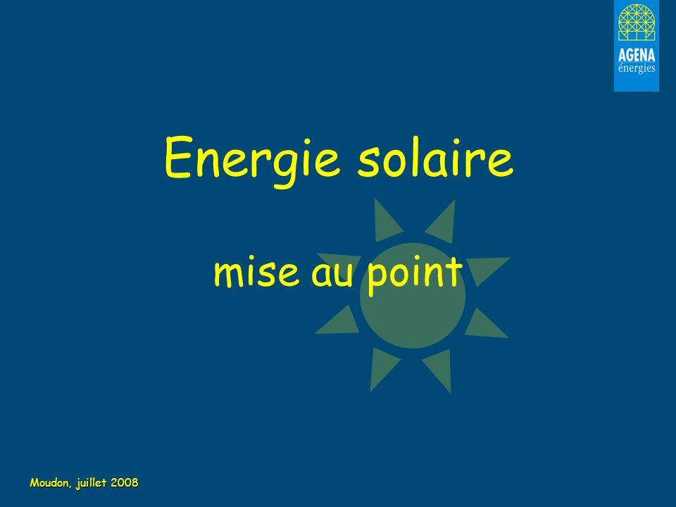 Energie solaire mise au point Moudon, juillet 2008