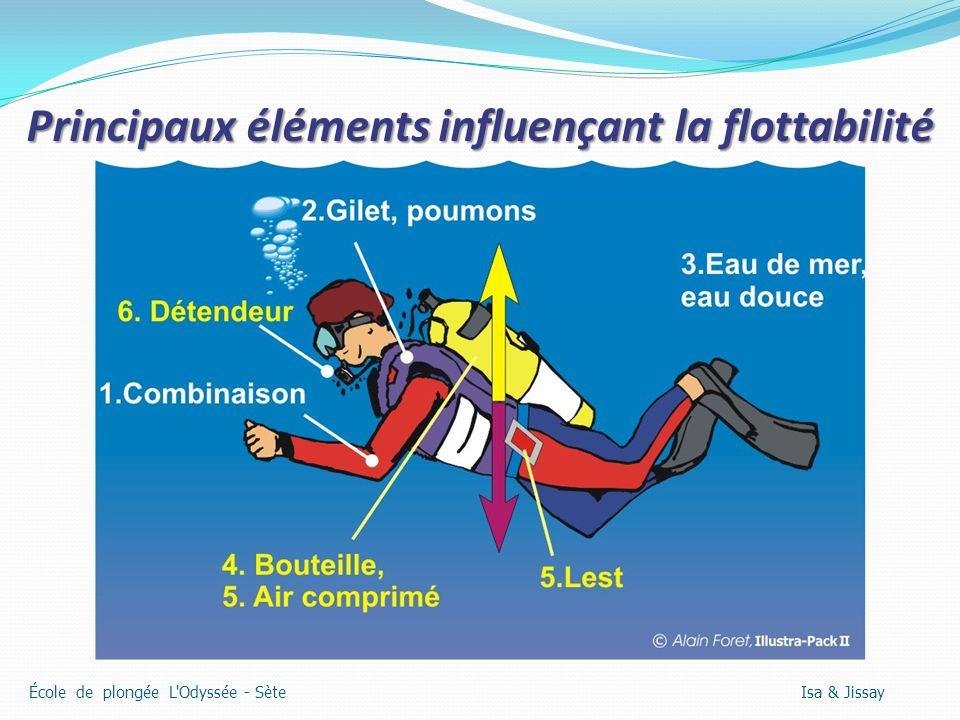 Principaux éléments influençant la flottabilité École de plongée L'Odyssée - Sète Isa & Jissay
