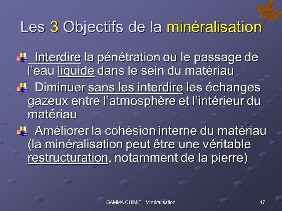 16GAMMA CHIMIE - Minéralisation Quest ce que la minéralisation .