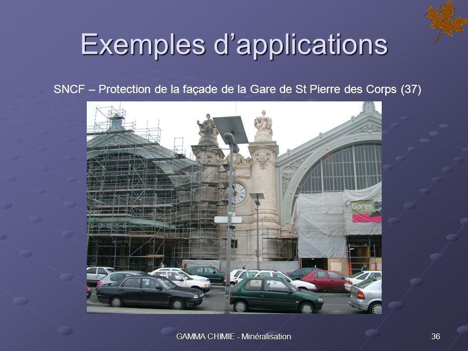 35GAMMA CHIMIE - Minéralisation Exemples dapplications Siège de lOCDE (Paris) - Façade en pierre de Saint-Maximin