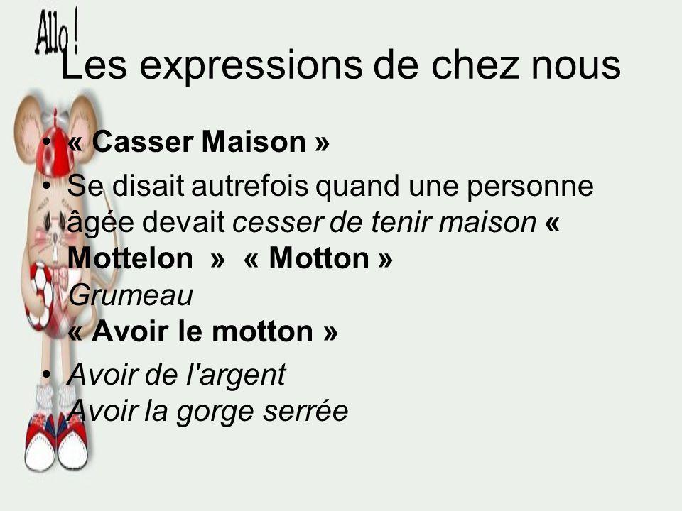 Les expressions de chez nous (Autres expressions utilisées pour nommer le même produit: Baboche, boucane, caribou, charlot, chien, chien rouge, corne-