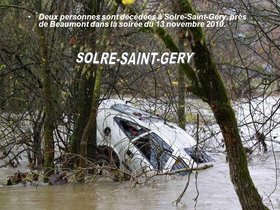Solre-Saint-Géry et Leval-Chaudeville, deux villages de l'entité de Beaumont, ont été particulièrement atteints par les averses et, à Solre, ces avers