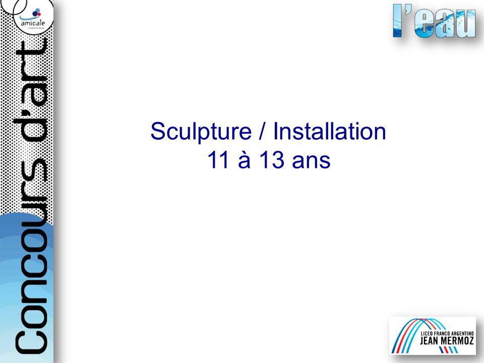 Sculpture / Installation 11 à 13 ans