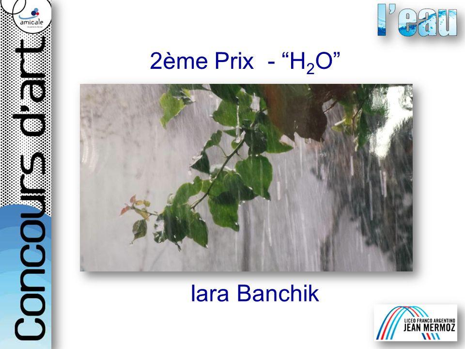 2ème Prix - H 2 O Iara Banchik